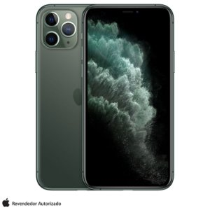 "iPhone 11 Pro Verde Meia-noite 256GB | Tela Super Retina 5,8"" - 4G, Câmera Dupla 12MP + Selfie 12MP"