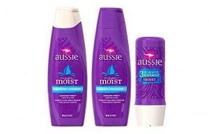 Aussie Kit Moist Shampoo Condicionador + Mascara 3 Minute