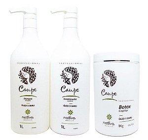 Nativa Caupe Kit Profissional Shampoo + Cond + Btox (3x1L)