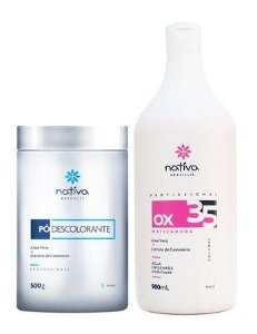 Nativa Pó Descolorante 500g + OX 35 Matizador 900ml