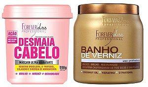 Forever Liss Kit 1 Kg Desmaia Cabelo + Banho verniz