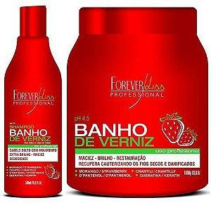 Forever Liss Banho de Verniz Morango 1kg + Shampoo