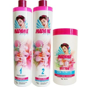 Kit escova Progressiva Madame Hair e BBtox  Capilar hair liss + Brinde
