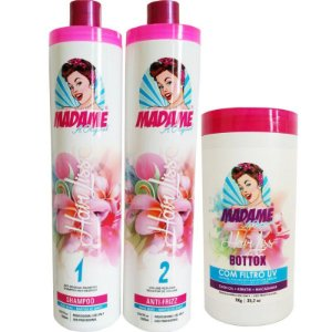 Kit escova Progressiva Madame Hair e BBtox Matizador+ Brinde