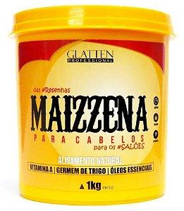 Glatten Maizzena Para Cabelos Alisamento Natural - 1Kg
