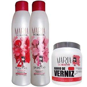 Escova Progressiva Maria Escandalosa + Banho de Verniz Maria 1kg