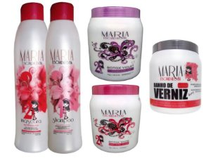Kit Progressiva Maria Escandalosa + 02 Botox + Banho de Verniz 1kg