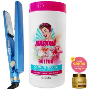 Bbtox Madame 1kg + Chapinha Nano Titanium + Brinde