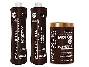 Escova Progressiva Marroquina Plastica Dos Fios 2X1000 + Bbtox 1kg