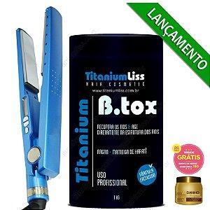 Kit Chapinha Nano Titanium Profissional + B.tox 1kg Titanium Liss