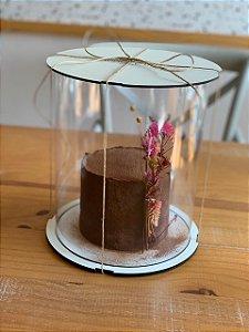 Caixa para bolo alto 25cm - com cake board embutido.