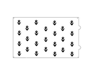 Stencil para bolo-Tulipa
