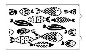 Stencil para bolo- Peixes