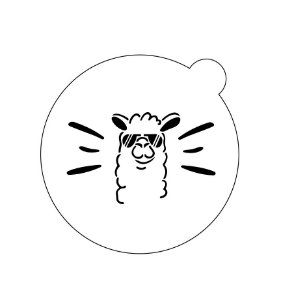Stencil topo de bolo- Lhama