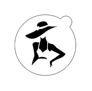 Stencil topo de bolo- Lady