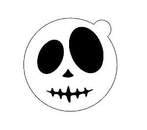 Stencil topo de bolo- Halloween Face
