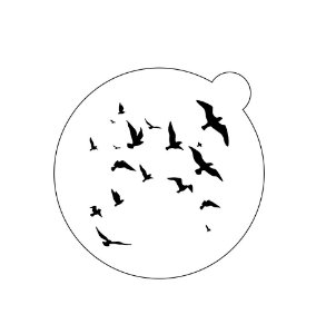Stencil topo de bolo- Gaivotas