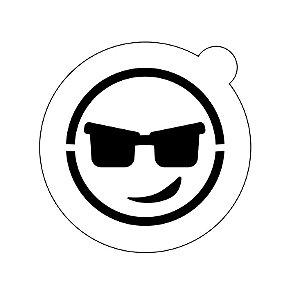 Stencil topo de bolo- Emoji óculos de sol