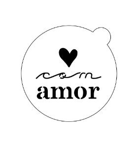Stencil topo de bolo- Com amor