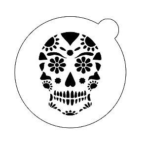 Stencil topo de bolo- Caveira mexicana