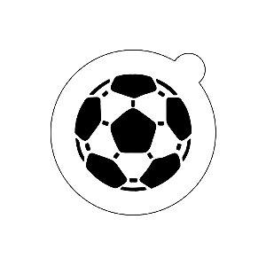 Stencil topo de bolo- Bola de futebol