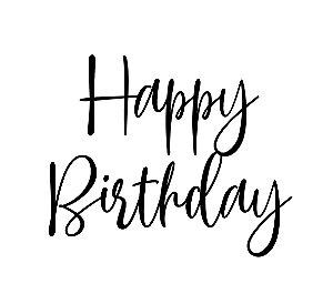 Marcador de biscoito - Happy Birthday 02