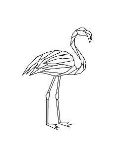 Marcador de biscoito - Flamingo geométrico