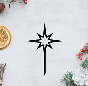 Topo -Estrela de Natal - Acrílico - Várias cores