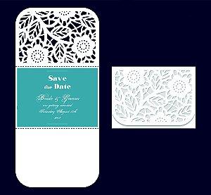 Kit - 50 unidades envelopes para convites - Cléo