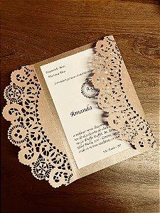 Kit - 50 unidades envelopes para convites - Gigi