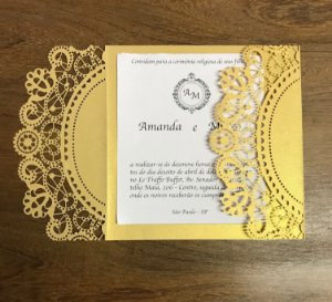 Kit - 50 unidades envelopes para convites - Tati
