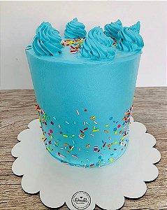 Cake Board MDF - Scallop Personalizado (Vários tamanhos) Kit 5 unidades