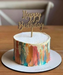 Topo de bolo - Happy Birthday -1 -Acrílico - Várias cores