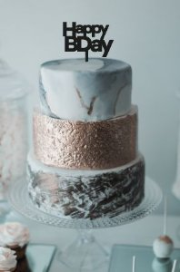 Topo de bolo - Happy Birthday -2 -Acrílico - Várias cores