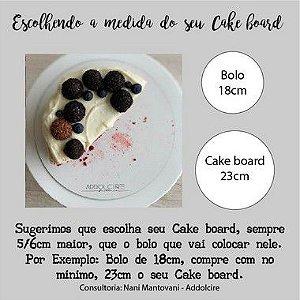 Cake board Quadrado - Acrílico - (Vários tamanhos) Kit com 5 unidades