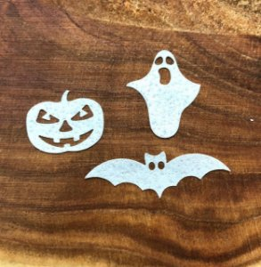 Aplique de papel arroz -Halloween