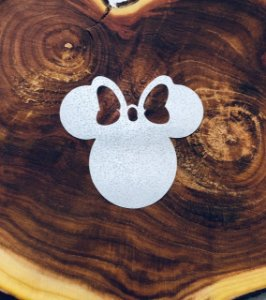 Aplique de papel arroz -Minnie Mouse