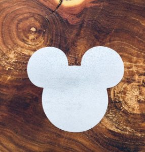 Aplique de papel arroz -Mickey Mouse