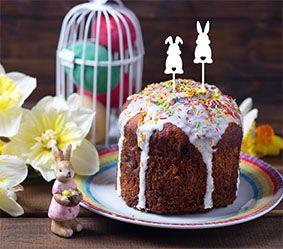 Topo de bolo -coelhinhos- Acrílico - Várias cores