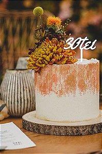 Topo de bolo -Trintei-MDF - Várias cores