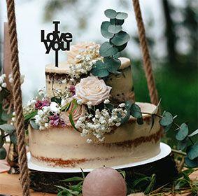 Topo de bolo -I love you -MDF - Várias cores