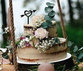 Topo de bolo -Coração 2-Acrílico - Várias cores