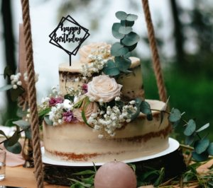 Topo de bolo -Happy Birthday -Square   Acrílico - Várias cores