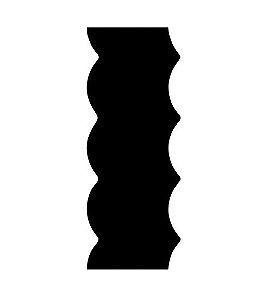 Espátula decorativa para bolo 07 - Acrílico
