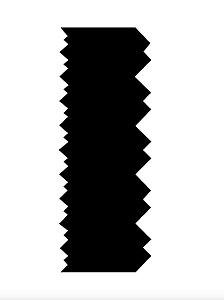 Espátula decorativa para bolo 09- Acrílico