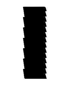 Espátula decorativa para bolo 10- Acrílico