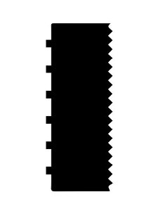 Espátula decorativa para bolo 13- Acrílico