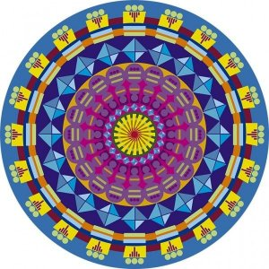 Sousplat - Mandala Blue
