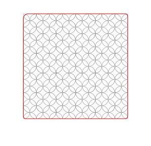 Marcador de biscoito - Textura Geo 07