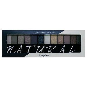 Paleta de Sombras Ruby Rose HB-9908 – Natural 12 cores com Primer